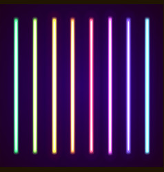collection of neon lights vector image vector image