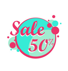 colorfull sale icon in a circle poster banner vector image vector image