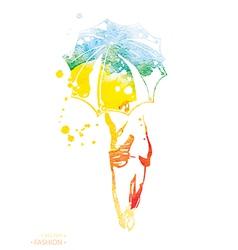 fashion watercolor vector image vector image