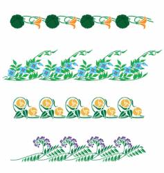 floral border collection vector image vector image