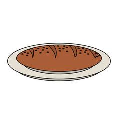 fresh bread icon vector image