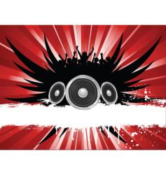 grunge music vector image vector image