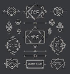 Line Badges and Design Elements vector image