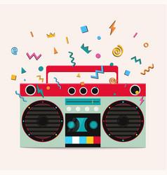 retro stereo cassette player vector image