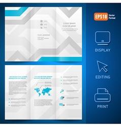 brochure folder leaflet geometric abstract vector image vector image