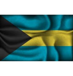 crumpled flag of Bahamas on a light background vector image