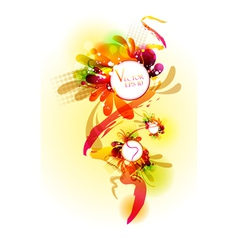 Floral colorful banner vector image vector image