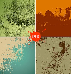 grunge textures colorful background collections vector image vector image