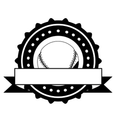 Isolated ball of baseball design vector image