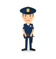 Policeman cartoon character vector image