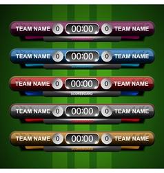 Scoreboard elements sport vector