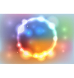 Colorful Abstract Glowing Lights Background vector image