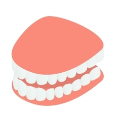 Dental jaw model icon isometric 3d style vector image