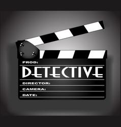 detective movie vector image vector image