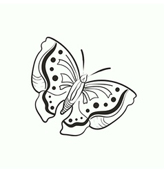 Doodle butterfly for coloring book vector
