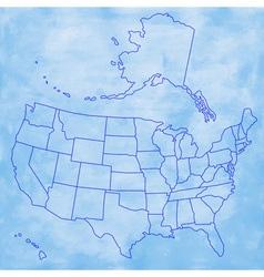 Abstract USA map vector image vector image