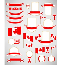Canadian flag decoration elements vector image vector image