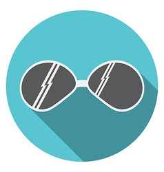 Flat design modern of Sunglasses icon with long vector image vector image