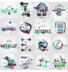 Hand-drawn symbols with infographic vector image vector image