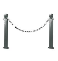 metal barrier stand vector image