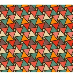 Retro pattern of triangle shapes vector image vector image