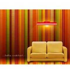 retro room vector image