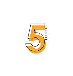 5 year anniversary template design vector