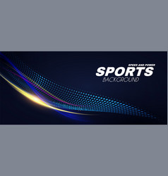 Abstract sport background with motion elements vector