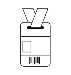 Access document with bar code vector