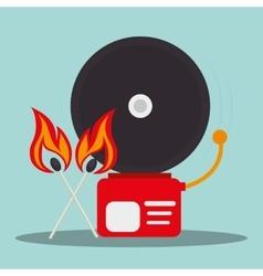 Alarm fire emergency vector