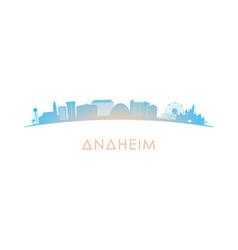 Anaheim skyline silhouette design colorful vector