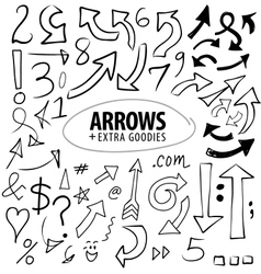 Arrows and Numbers vector image