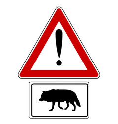 Attention sign with optional label wolf vector