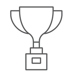 award cup thin line icon win and prize trophy vector image