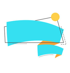 blank banner paper with bright ribbon vector image