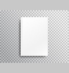 blank mockup with shadow on transparent background vector image