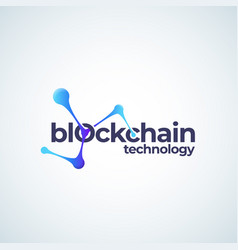 blockchain technology absrtract sign vector image