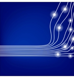 blue optical fibres vector image