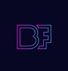 Blue pink alphabet letter logo combination design vector