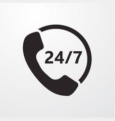 Call center sign icon center symbol flat vector