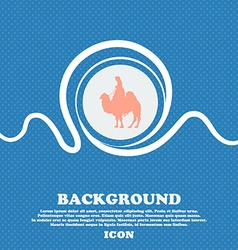 Camel sign Blue and white abstract background vector image