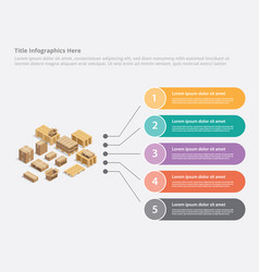 Cardboard shipping infographic business data vector