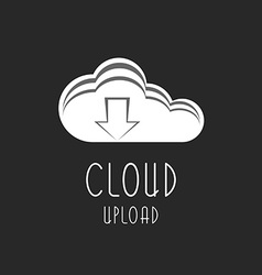 cloud icon upload arrow sign the process vector image