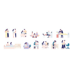 collection pregnancy and maternity scenes vector image