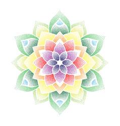 Colorful dots flower mandala vector