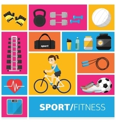 Concept of the gym and fitness vector image