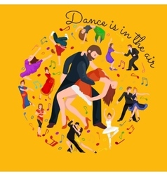 Couple dancing Kizomba in bright costumes vector image