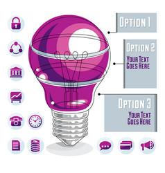 creative infographics template layered light bulb vector image