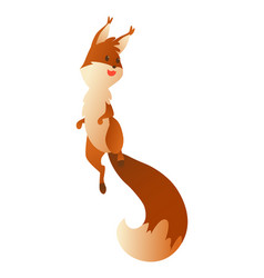cute cartoon squirrel sweet friendly jumping vector image