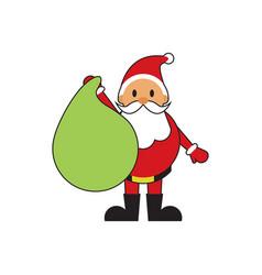 cute santa claus gift bag vector image